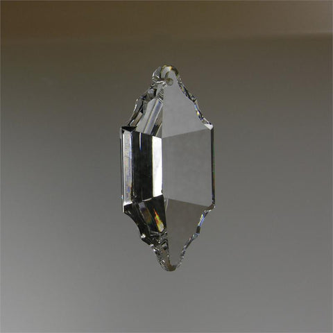 ASFOUR 30% Lead Crystal 63mm Pendalogue <br> (1 or 2 Hole)