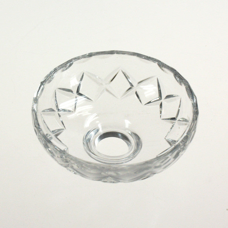 "3"" Pressed Crystal Bobeche<br>No pin"