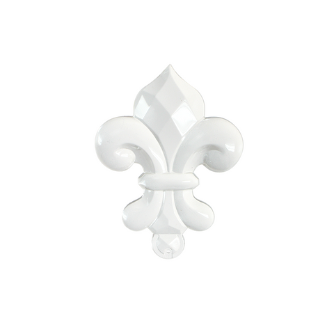 90mm West German Crystal Fleur-De-LIs Individually boxed