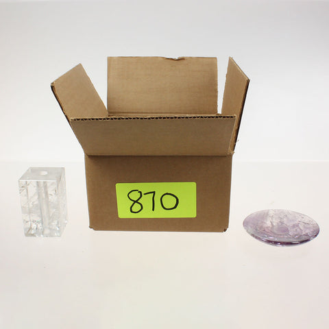 Box of Assorted Rock Crystal Pieces