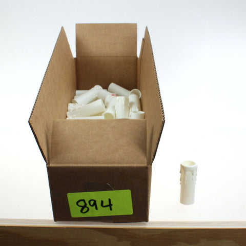 "Box of 60  3"" Off-White Candle Covers"