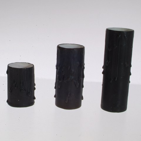 Box of 25 Black Beeswax Candle Covers-Medium Base
