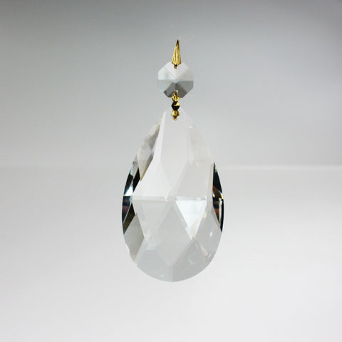 "3-1/2"" Leaded Teardrop w/ top bead"