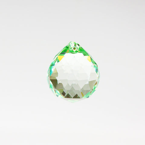 20mm Light Green Crystal Ball Preciosa Machine Cut w/ 30% Lead
