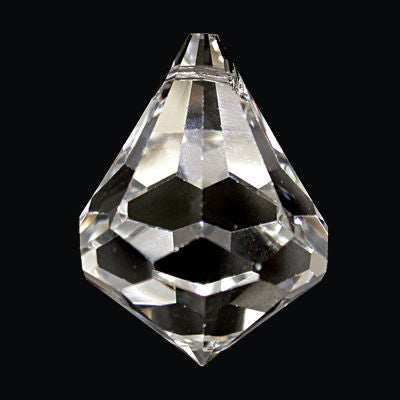 30mm Crystal Drop Preciosa Machine Cut W/ 30% Lead