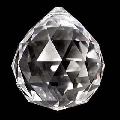 30MM FACETED CRYSTAL BALL TURKISH HAND CUT