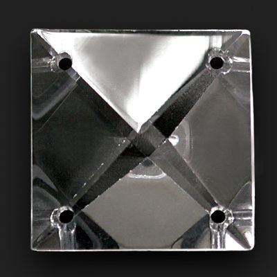 40MM CRYSTAL SQUARE W/ 4 HOLES TURKISH HAND CUT