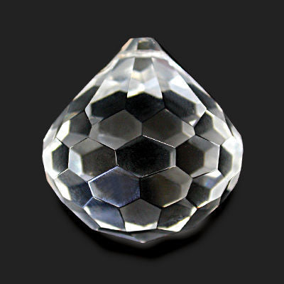 50MM FACETED CRYSTAL BALL / DROP TURKISH HAND CUT