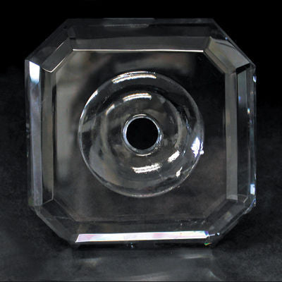 90MM CRYSTAL DISH W/ CENTER HOLE TURKISH HAND CUT