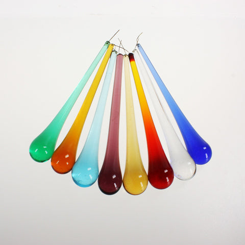 6 Inch Smooth Murano Raindrop <br> (9 Colors)