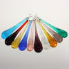 4 Inch Rippled Murano Raindrop <br> (9 Colors)