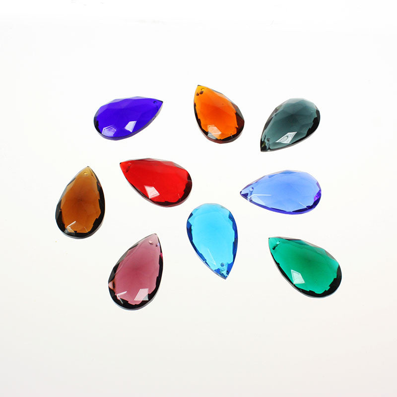 #324 38mm (1-1/2 inch) Hand Cut Half Cut Teardrop <br> (9 colors)