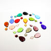 #390 38mm (1-1/2 inch) Hand Cut Half Cut Teardrop w/ 14mm Octagon <br> (15 Colors)