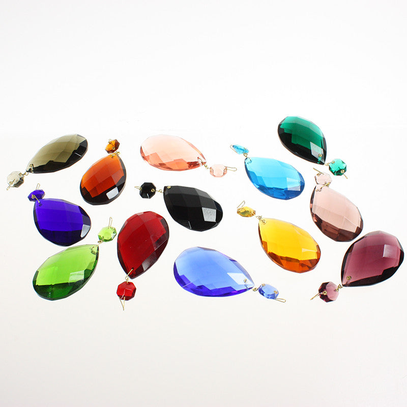 #505 63mm (2-1/2 inch) Hand Cut Full Cut Teardrop w/ 14mm Octagon <br> (14 Colors)
