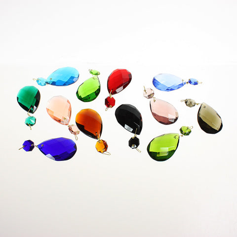 #505 50mm (2 inch) Hand Cut Full Cut Teardrop w/ 14mm Octagon<br> (11 Colors)