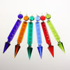 4.5 in Hand-cut Notched Pointed Spear w/ Octagon <br> (6 colors)