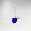 13 14mm Czech Grape Clusters w/ One Leaf <br> (10 Colors)