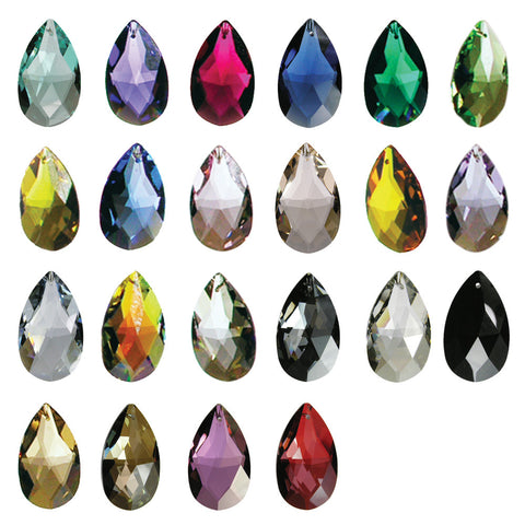 SWAROVSKI STRASS®<br>50mm Full Cut Colored Teardrop (19 colors)