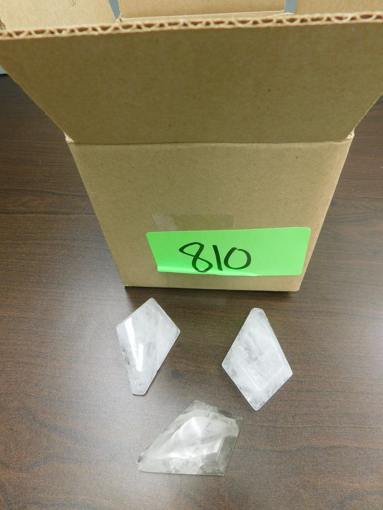 Box of 3 75mm Rock Crystal Kite Prisms