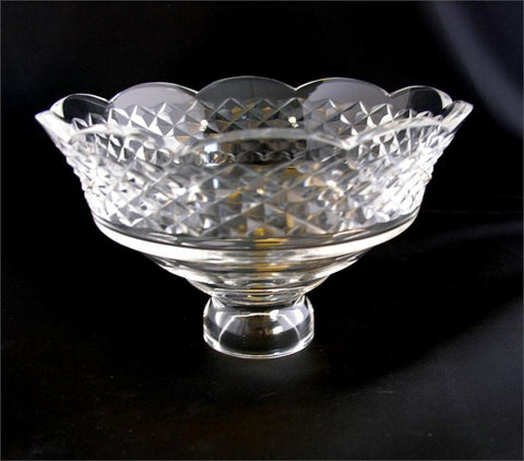 "6"" Hand Cut Crystal Body Dish<BR>10 Pin Holes"
