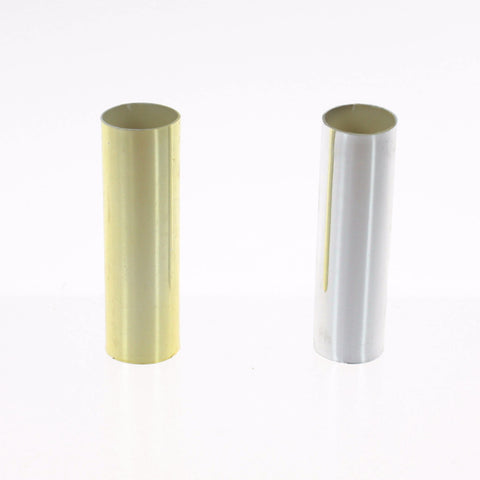 Metallic-look Plastic Candle Cover (Gold or Silver) 3 inch