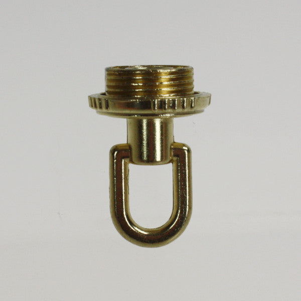 Antique Brass Screw Collar Loop w/ Wireway (1/8 IP)