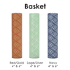 "6"" kaarskoker Designer Candle Cover (cb), Basket Design (3 colors)"