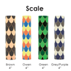 "4"" kaarskoker Designer Candle Cover (cb), Scale Design (4 colors)"
