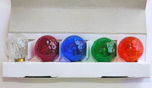 5 Mixed Color Berry Shaped Bulbs, cb<br>(Pack of 5)