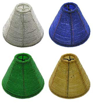 Chandelier shades chandelierparts cone style glass bead shade 3 colors mozeypictures Gallery
