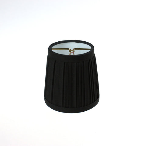Black Pleated Clip-On Shade