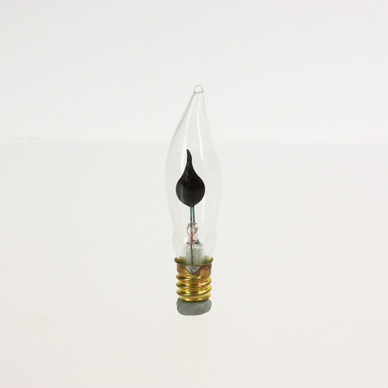 3 Watt Flicker Flame Petite Turn Tip Bulb, cb<br> (Each)