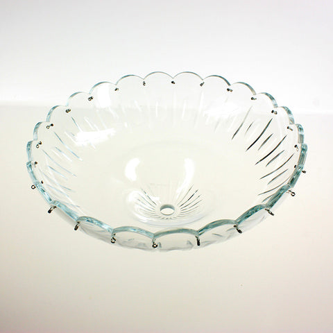 "10"" Stunning Crystal Body Dish<br>24 pins"
