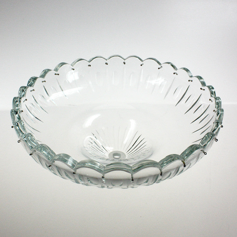 "12"" Stunning Crystal Body Dish<br>28 pins"