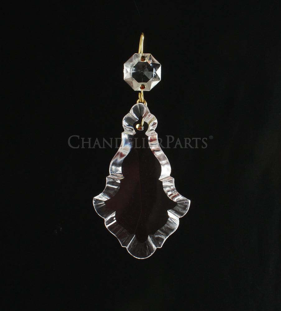 Czech Crystal Pendalogue w/ Top Bead <br> (10 sizes)