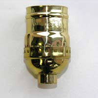 Medium brass socket