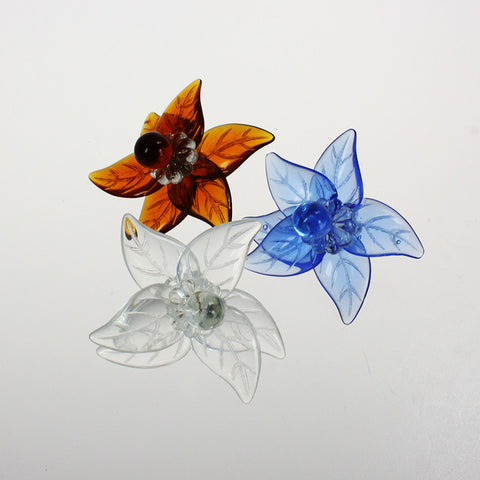 Murano Flower w/ Leaves, Rosettes and Grape <br> (3 styles)