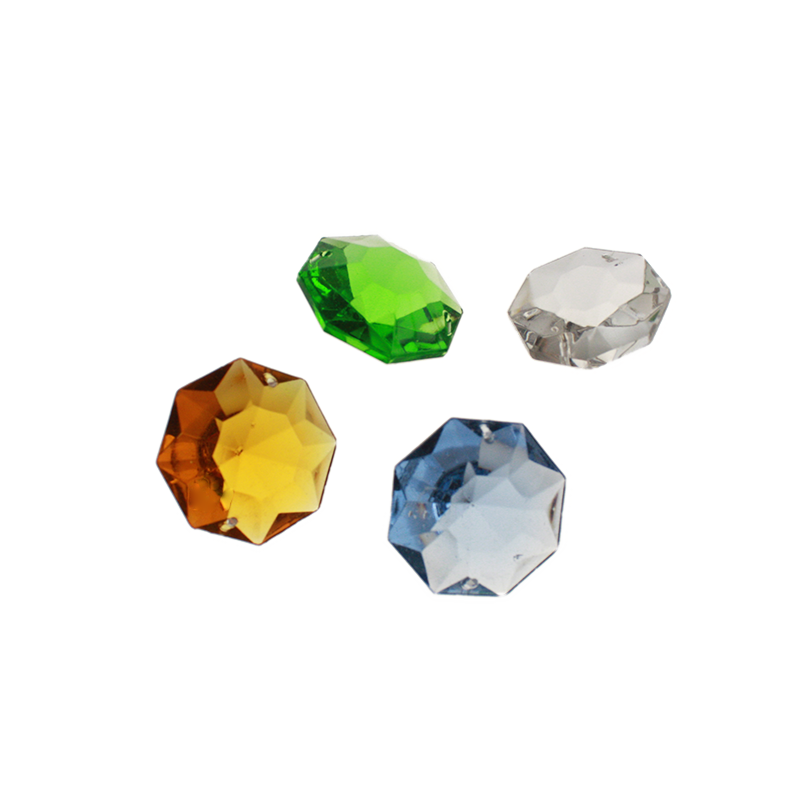 30mm Italian Colored Octagon (4 colors)