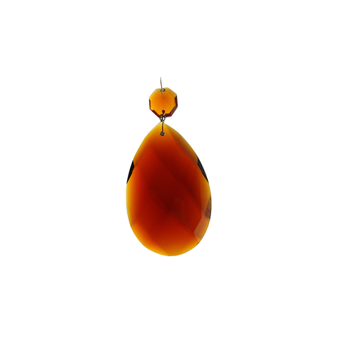 Amber Teardrop with top bead