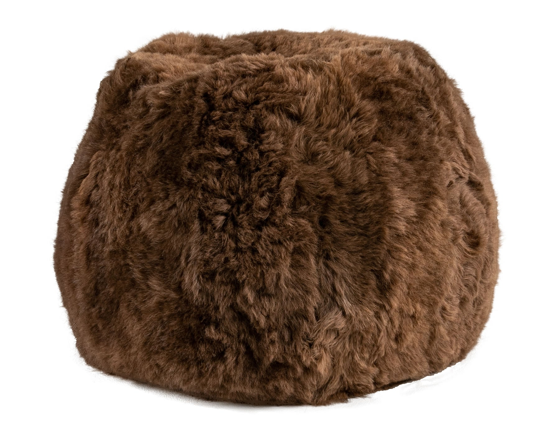 Pouf - Natural Rusty Brown