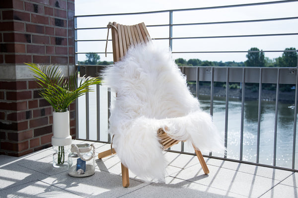 White Arctic Sheepskin Single