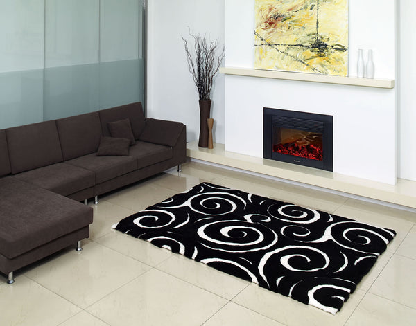 Boa Design Rug - Black & White