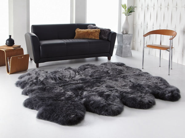 Steel Octo Sheepskin Rug