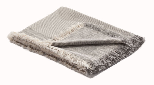 White Alpaca Throw - Willow