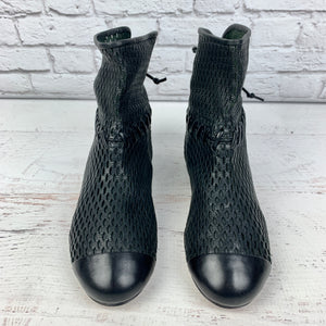 Chanel Laser Cut Perforated Ankle Boot, Size 41 NEW