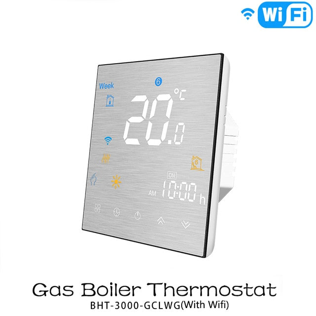WiFi Smart Thermostat Temperature Controller for Water/Electric floor Heating Water/Gas Boiler Works with Alexa Google Home - Ahhroma
