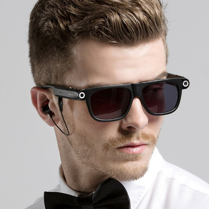 Smart Glasses With Bluetooth Camera Funtion Hands-Free Call GPS Navigation Remind Sunglasses - Ahhroma
