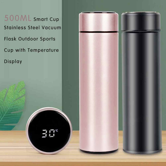 500mL Smart Kettle LCD Touch Screen Display Temperature Portable Water Bottle Vacuum Flask Travel Outdoor bouteille isotherme - Ahhroma