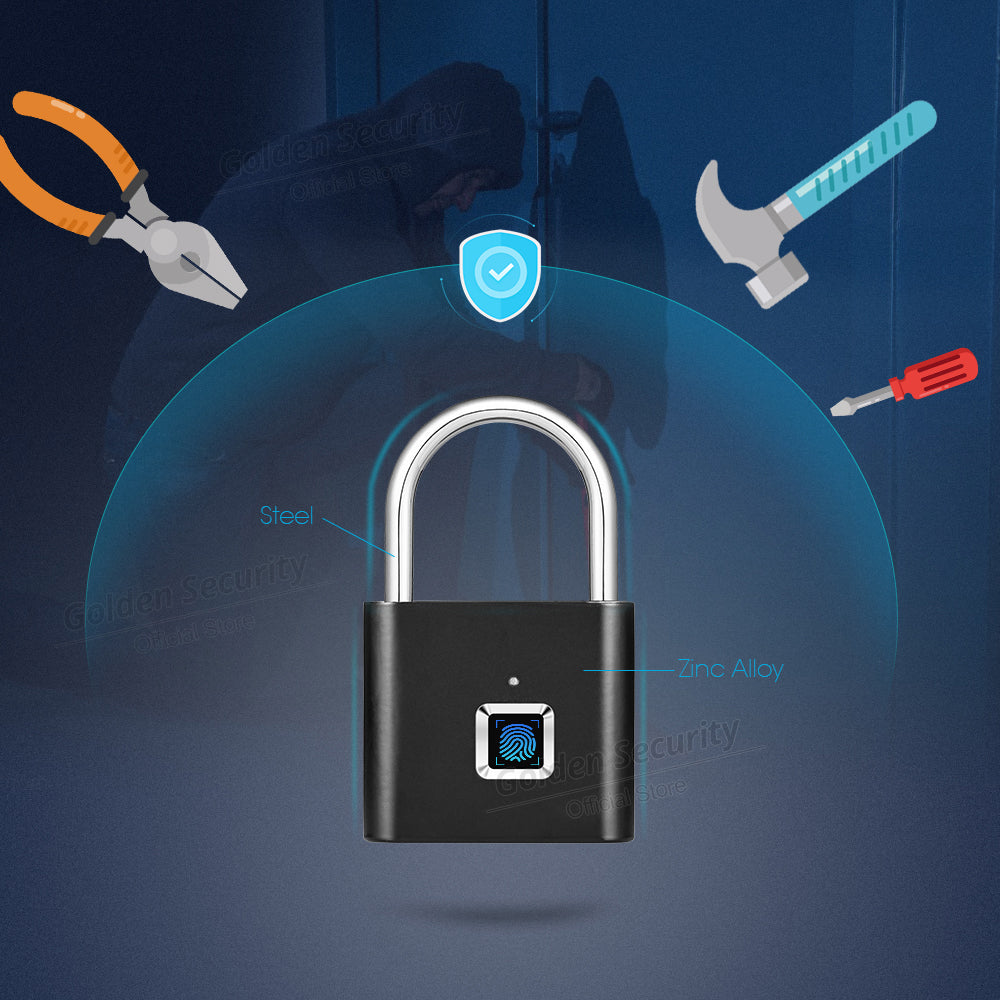 Keyless Fingerprint Smart Padlock - Ahhroma