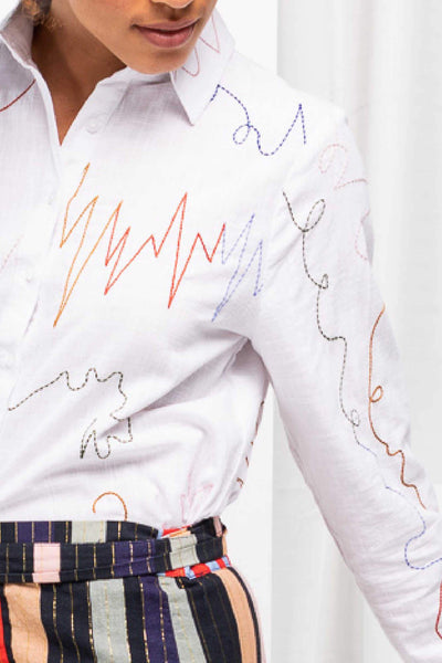 Squiggle Shirt - White